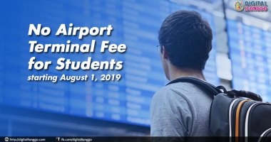 No airport terminal fee for students
