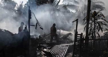Gas leak fire incident