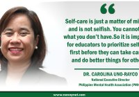 Dra. Carolina Uno-Rayco, National Executive Director of the Philippine Mental Health Association