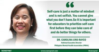 Dra. Carolina Uno-Rayco, National Executive Director of the Philippine Mental Health Association
