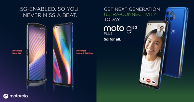 Motorola is back in PH with razr 5G and moto 5g plus phones.