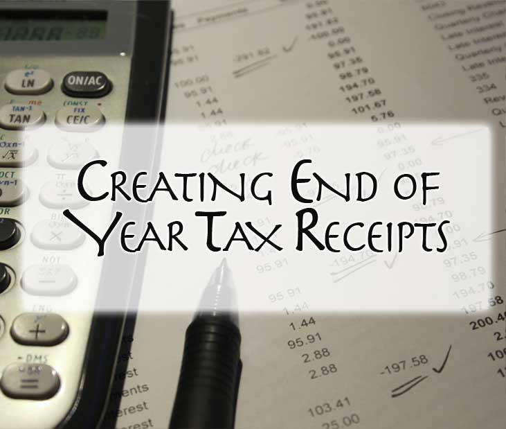 creating end of year tax receipts nonprofit success