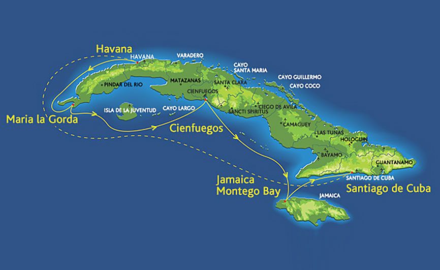 Celestyal Cruises Route Map