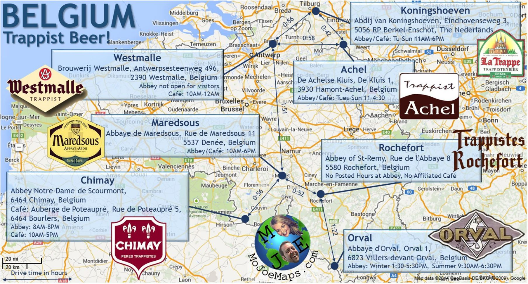 Belgium Brew Map