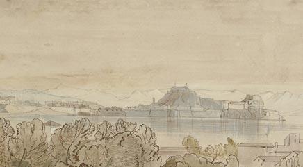 Edward Lear, The Citadel at Corfu (1848)