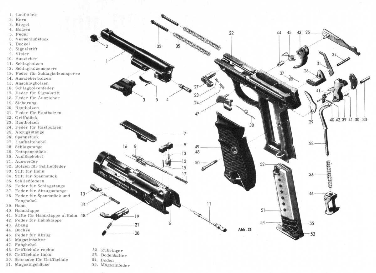 Pistola A Salve Walther P 38 Cal 8 Mm Bruni Bbm Italia
