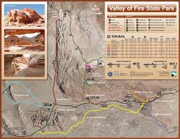 Valley of fire Trail map