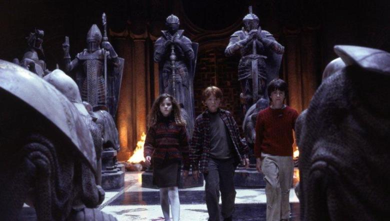 Harry Potter e la pietra filosofale citazioni e dialoghi di Chris Columbus con Daniel Radcliffe, Rupert Grint, Emma Watson, scacchi