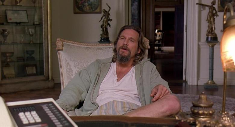 Il grande Lebowski frasi, citazioni e dialoghi di Joel Coen con Jeff Bridges, John Goodman, Julianne Moore, Steve Buscemi, Drugo seduto