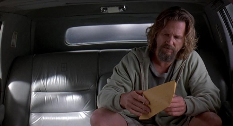 Il grande Lebowski citazioni e dialoghi di Joel Coen con Jeff Bridges, John Goodman, Julianne Moore, Steve Buscemi, Drugo busta