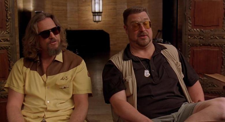 Il grande Lebowski citazioni e dialoghi di Joel Coen con Jeff Bridges, John Goodman, Julianne Moore, Steve Buscemi, Walter e Drugo alle pompe funebri