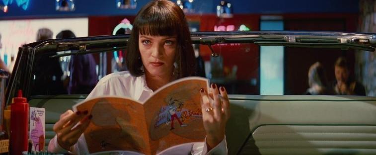 Una scena di Pulp fiction che ha come protagonista Uma Thurman - Frasi sul sesso degli attori e dei registi