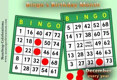 December is Bingo's Birthday Month