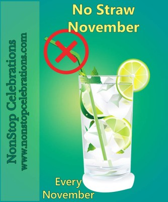 No Straw November ... pledge to avoid single-use straws for the month of November
