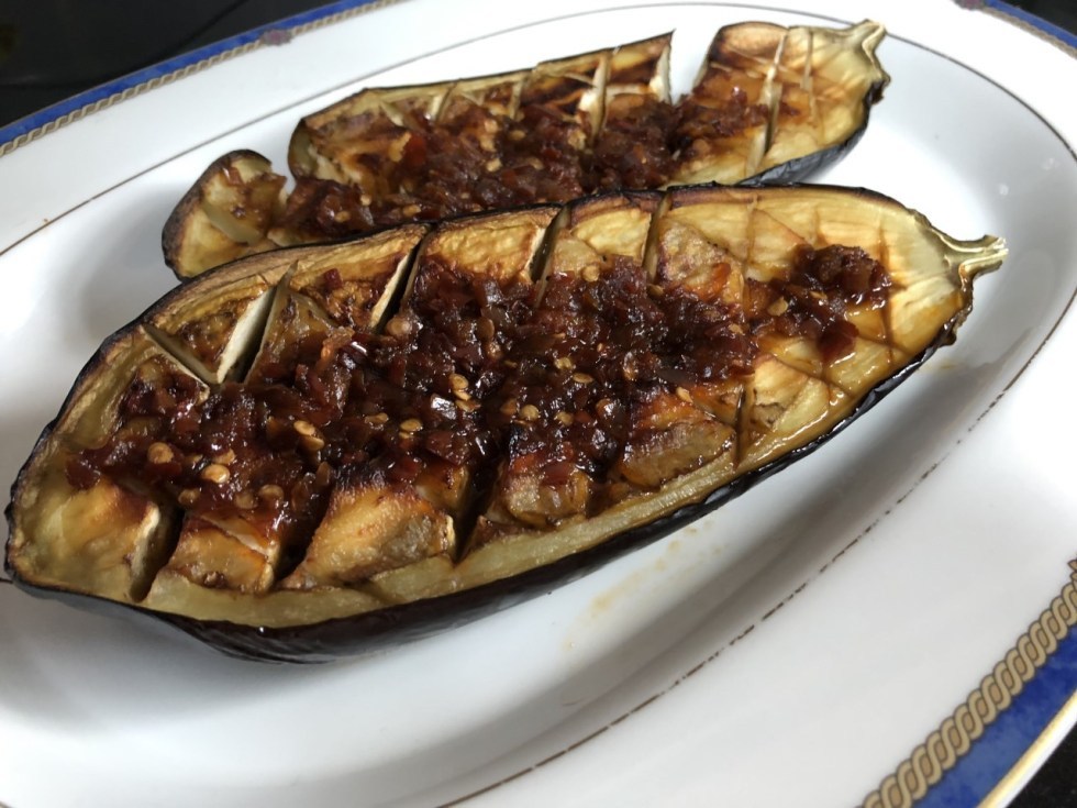 Grilled Aubergines With Surani Sauce