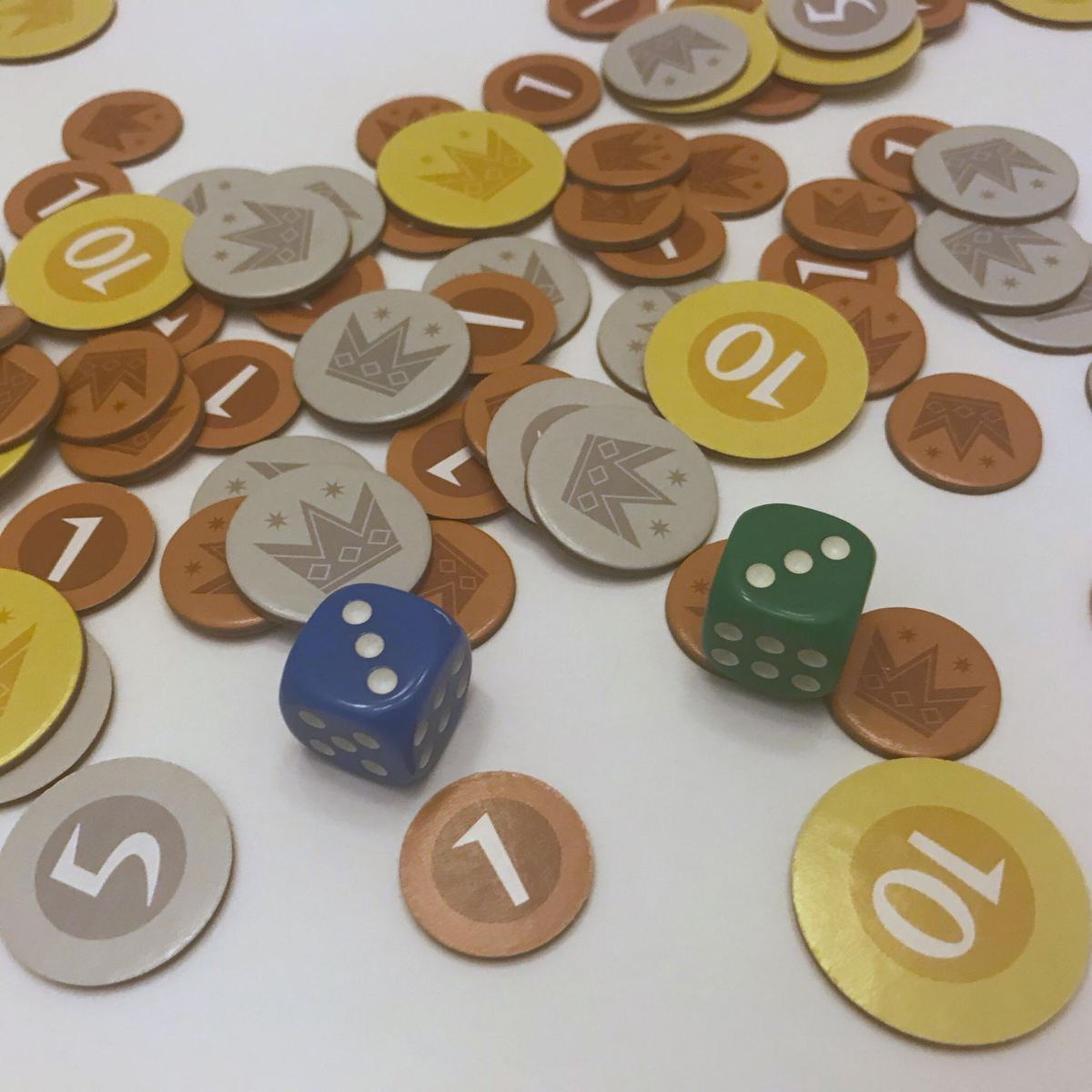 Machi Koro Dice and Coins
