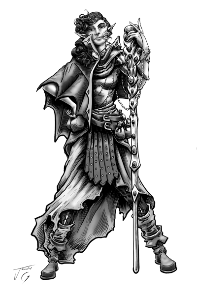 chaotic neutral elf wizard