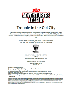 Trouble in the Old City