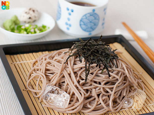 Fresh soba noodle salad - zarusoba
