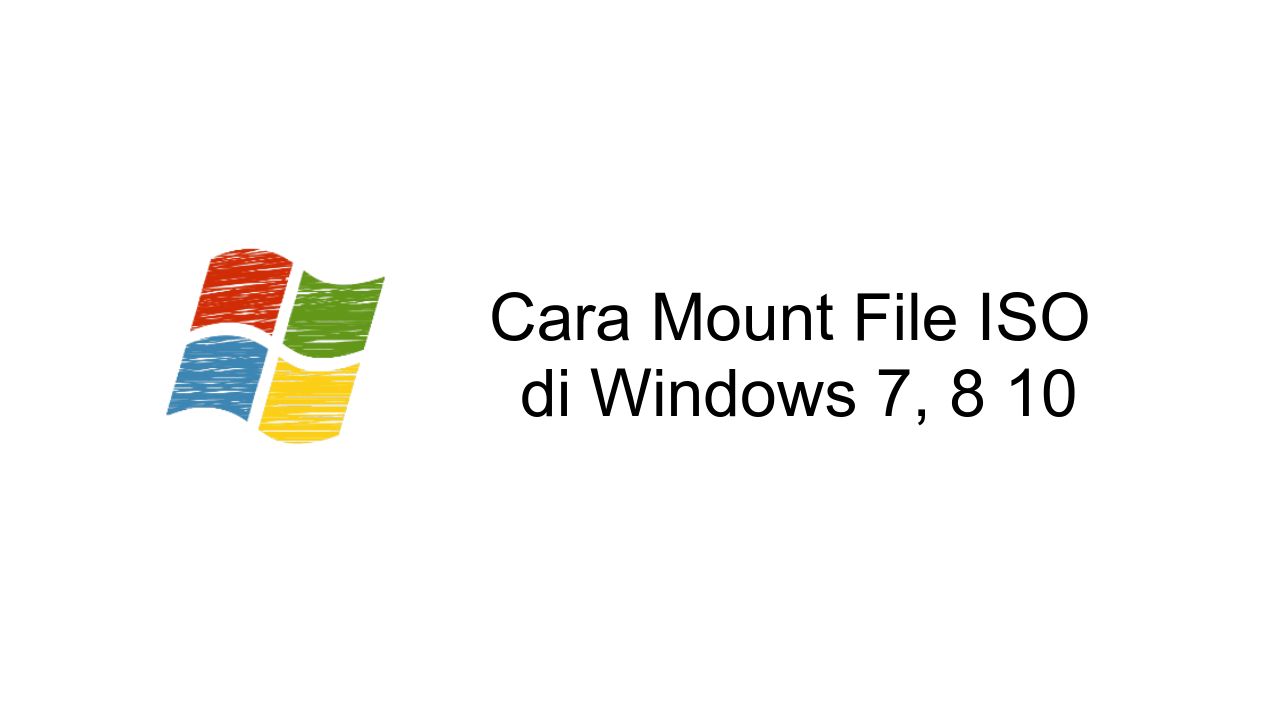 cara mount file iso di windows