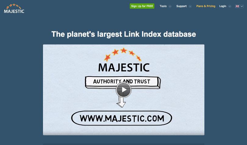 MajesticSEO website