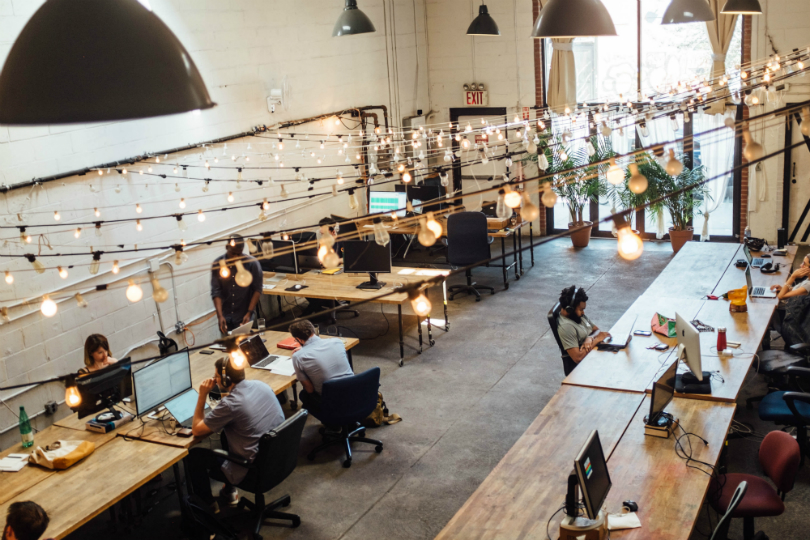 Rentals such as coworking spaces can save money over buying real estate