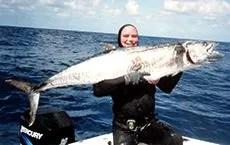 Ian Brown Mackerel. Spanish Mackerel spearfishing record
