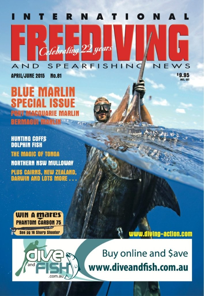 Spearfishing Marlin by IFSN cover featuring Travis Corken Neptonics Spearfishing Australia