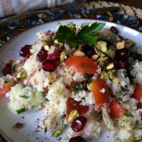 Fragrant Tabbouleh with Pistachio and Pomegranate