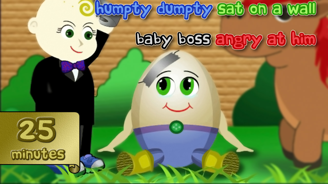 humpty dumpty nursery rhyme video