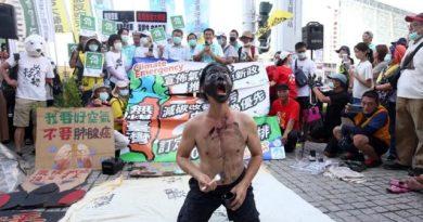 公民團體上周末在中南部發起「反空汙抗暖化」遊行。圖/聯合報系資料照片