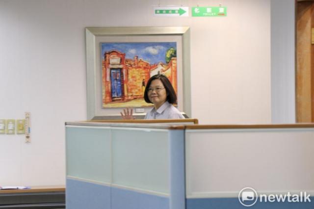 總統蔡英文出席民進黨中常會。圖:謝孟華/攝(資料照片)