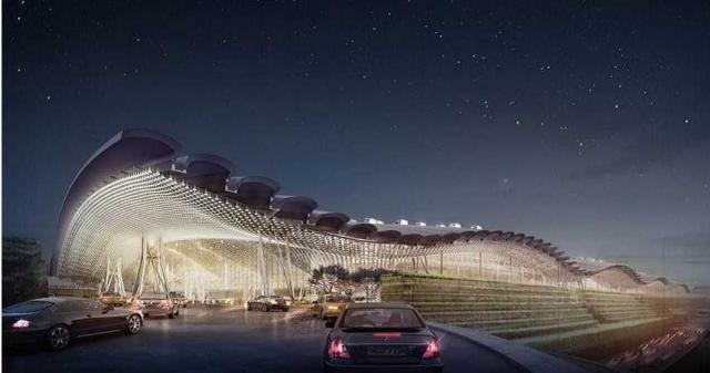 桃園國際機場第3航廈完工示意圖。(圖/桃機公司提供)