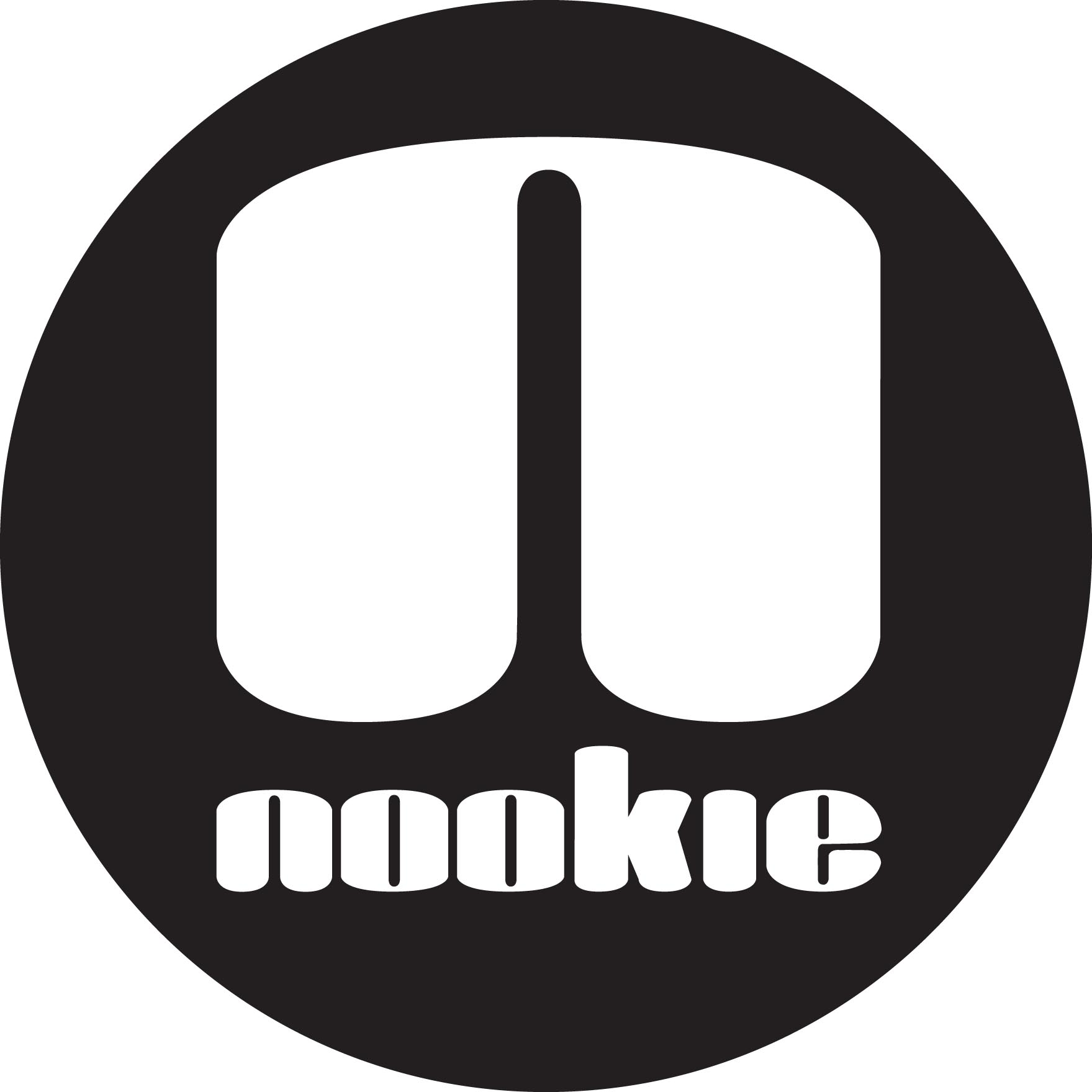 Nookie Logo Sticker Black Circle