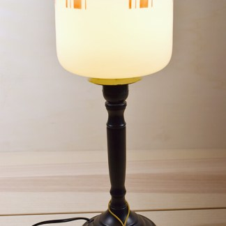 retro tafel lamp glas