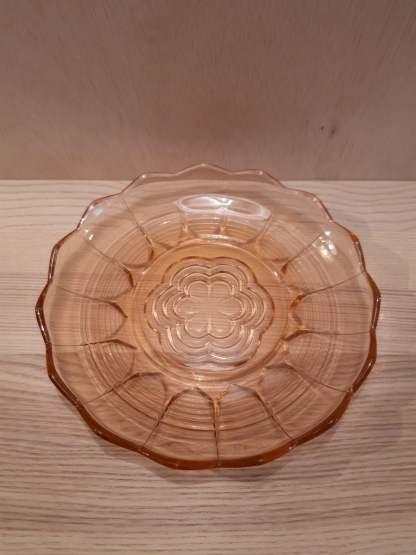 roze platte schaal