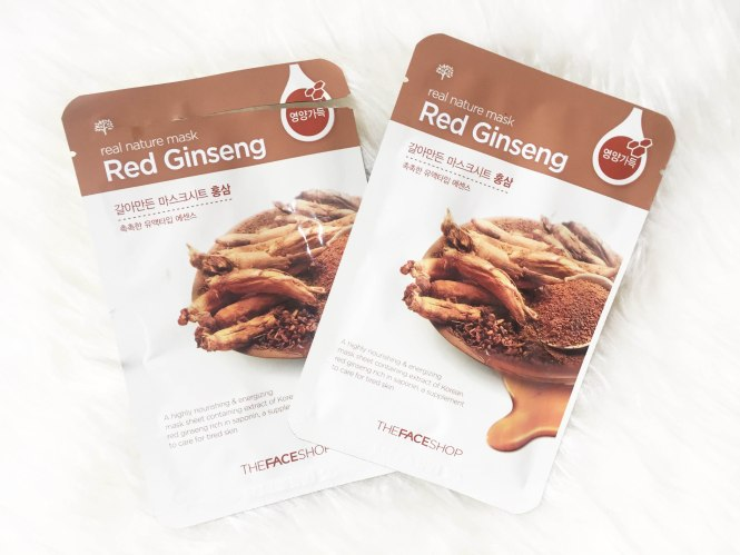 Face Shop Red Ginseng Sheet Mask