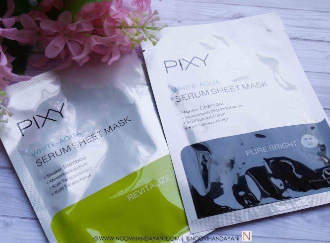 PIXY WHITE-AQUA SERUM SHEET MASK 3