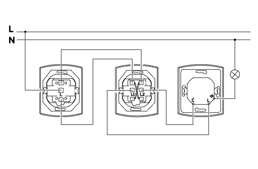 Upravljanje iz tri tacke_dimer?resize\\\=665%2C435 crabtree 2 way light switch wiring diagram best wiring diagram 2017 crabtree intermediate switch wiring diagram at bayanpartner.co