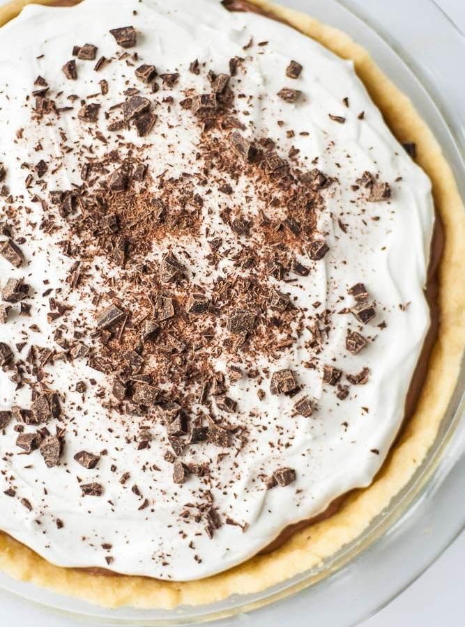 Healthier Chocolate Cream Pie