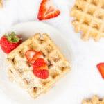 Vegan Whole Grain Flax Waffles