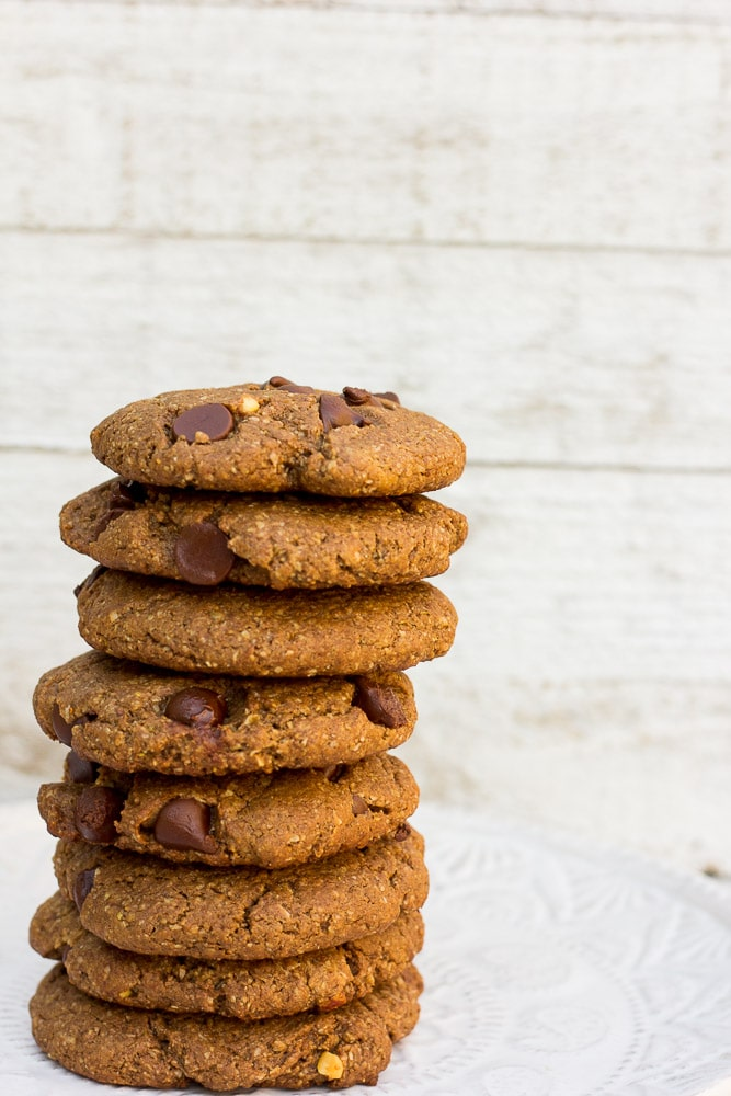 One Bowl Double Chocolate Peanut Butter Cookies- vegan, oil free, gluten free; made in 1 bowl!