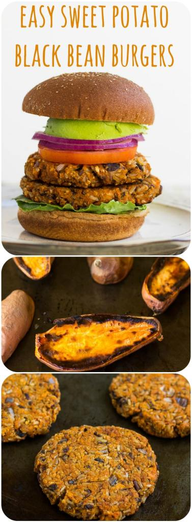 Easy Sweet Potato Black Bean Burgers: Smoky and sweet, only 7 ingredients!