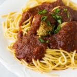 Spaghetti and Easy Vegan Meatballs
