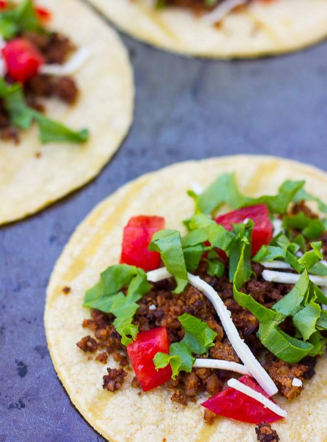 Cauliflower Walnut Mushroom Taco Meat