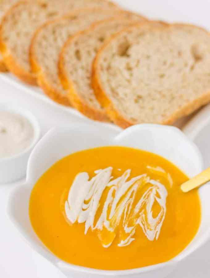 Instant Pot Butternut Squash Soup with Cashew Cream