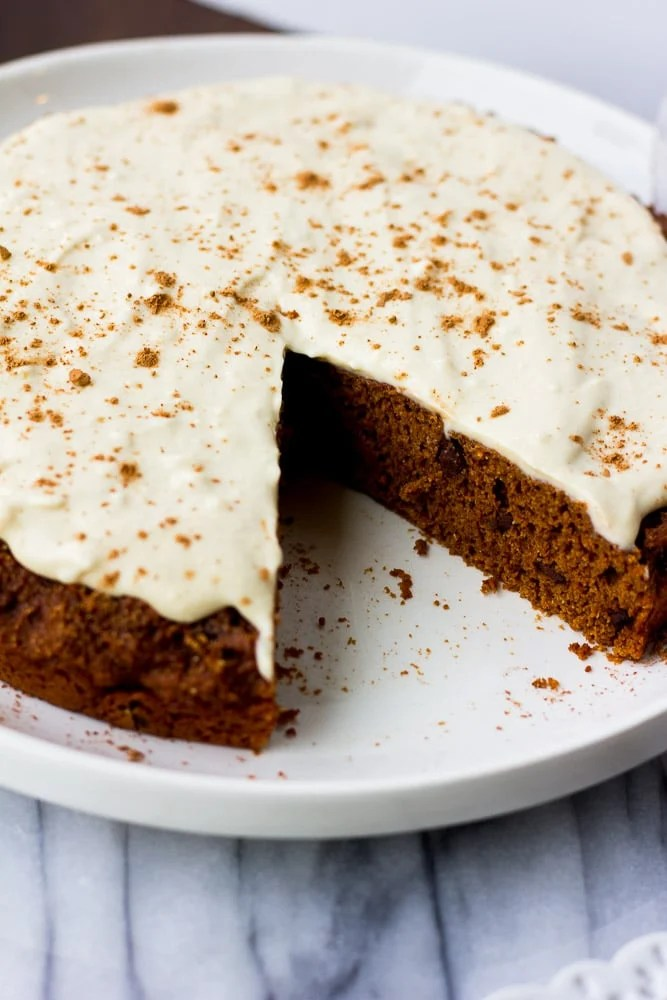 Oil-free Chocolate Cake with Cashew Frosting