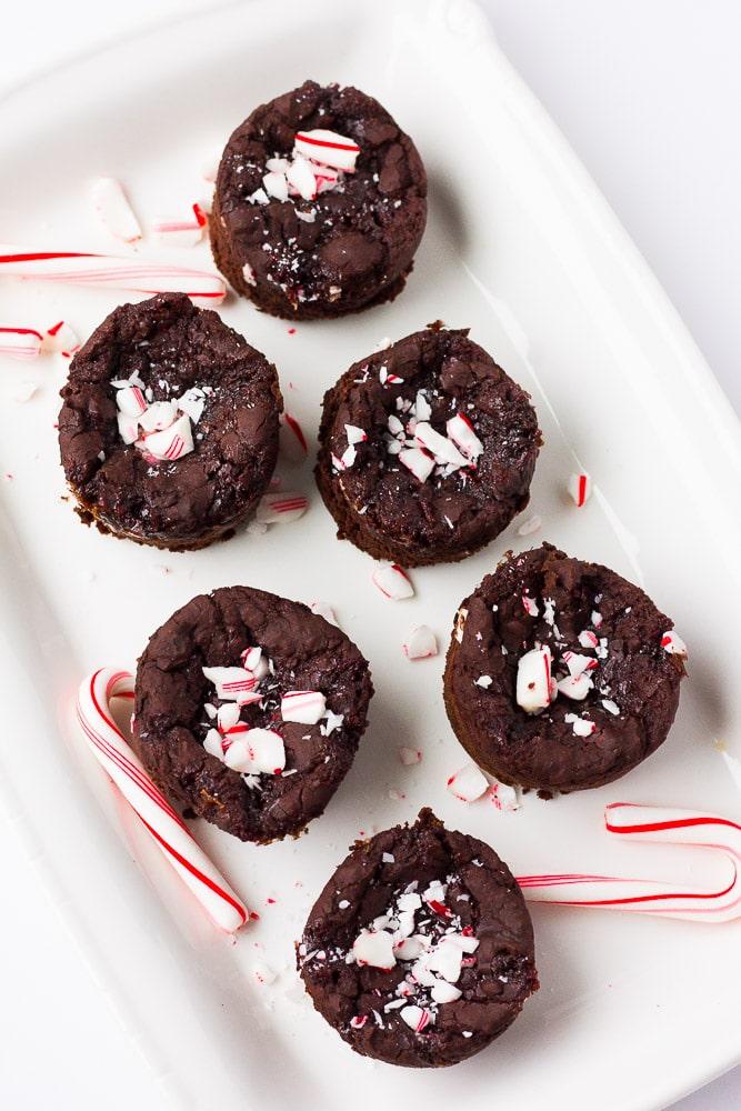 Peppermint Black Bean Brownie Bites
