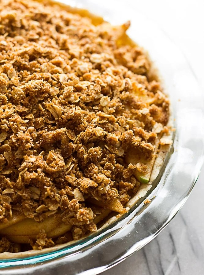 Gluten Free Vegan Apple Crumble Pie