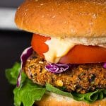 The Best Black Bean Veggie Burger